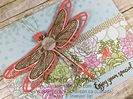 Dragonfly Dreams stamp set and Detailed Dragon Fly Thinlits by Stampin' Up! www.stampstodiefor.com 2