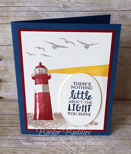 High Tide stamp set by Stampin' Up! Border Buddy PDF Card Tutorial www.stampstodiefor.com