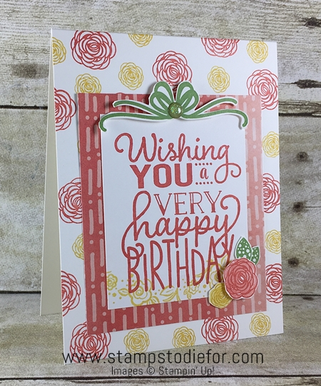 Sunday Sketches SS035 - Big on Birthdays & Happy Birthday Gorgeous stamp sets by Stampin' Up! www.stampstodiefor.com