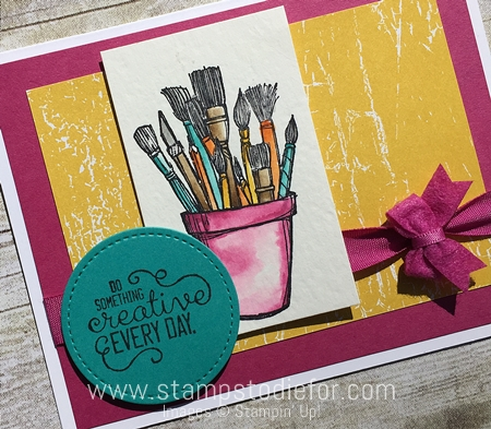 Crafting Forever Stamp Set by Stampin' Up! Watercoloring www.stampstodiefor.com 2