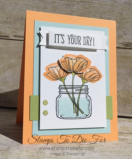Oh So Eclectic  Jar of Love and Happy Birthday Gorgeous stamp set by Stampin' Up! www.stampstodie.com