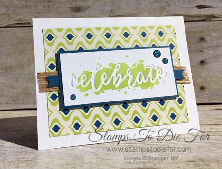 Happy Celebrations Stamp Set & Celebrations Duo Embossing Folders by Stampin' Up! www.stampstodiefor.com