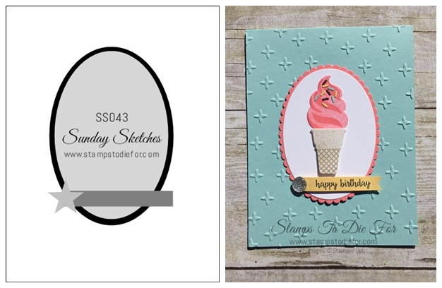Sunday Sketches Series SS043 Cool Treats Stamp SEt by Stampin' Up! www.stampstodiefor-horz
