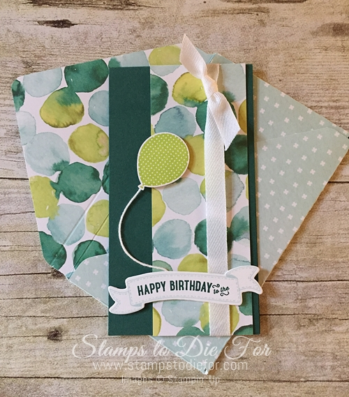 Just in CASE Birthday Banners stamp set by Stampin' Up! Make your own envelope www.stampstodiefor.com c