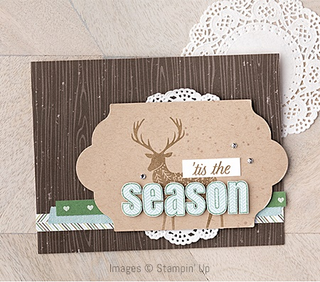 Merry Patterns Stamp Set by Stampin' Up! Christmas Card Sample 1