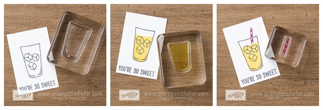 Mixed Drink Stamp Set by Stampin' Up! Two Step Stamping www.stampstodiefor-tile