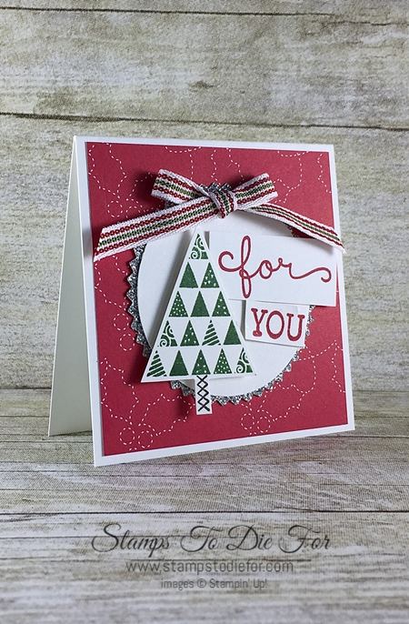 Just in CASE Christmas Quilt Christmas stamp set & Quilt Builder Framelits by Stampin' Up! www.stampstodiefor.com