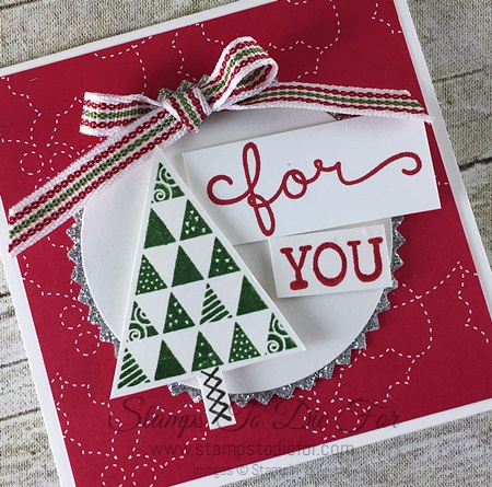 Just in CASE Christmas Quilt Christmas stamp set & Quilt Builder Framelits by Stampin' Up! www.stampstodiefor.com 4