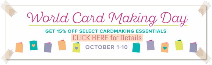 World Card Making Day 2017 Sale