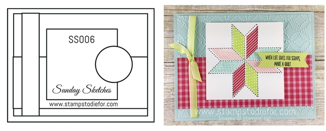 Sunday Sketches by Stamps to Die For - Quilted Christmas stamp set by Stampin' Up!