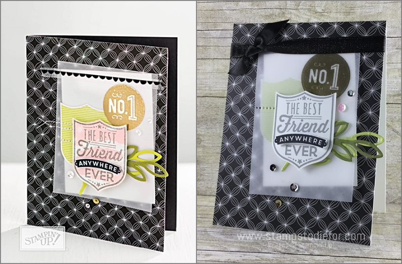 Just in CASE page 27 Stampin' Up! Annual Catalog Badges and Banners stamp set www.stampstodiefor.com side by side