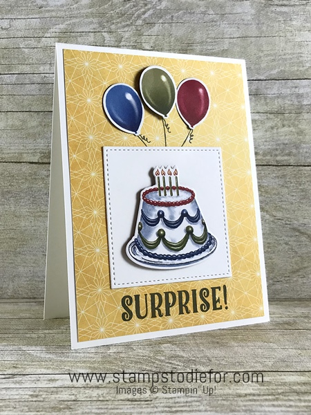 Birthday Memories Suite - Birthday Friends Paper by Stampin' Up! cake