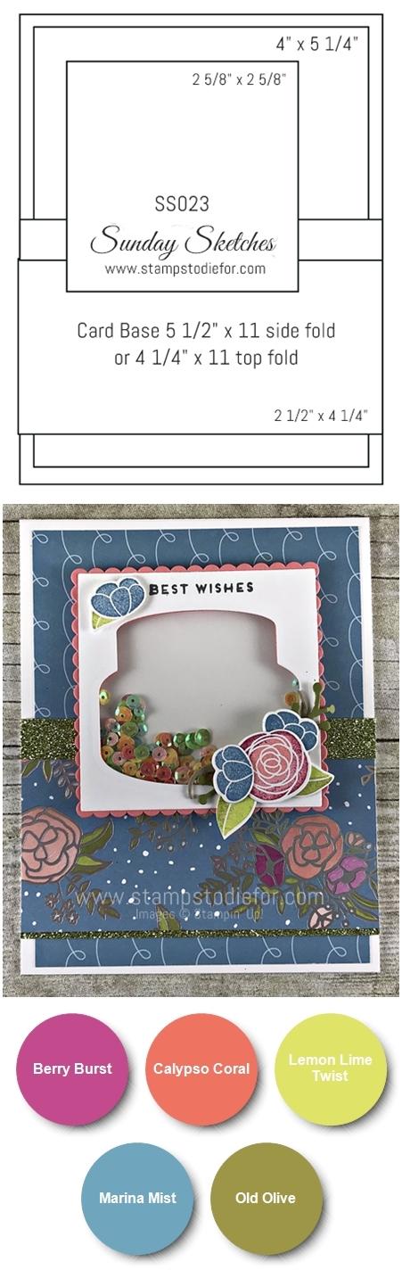 SS023 Handmade Birthday Card using the Cake Soiree stamp set by Stampin Up vert