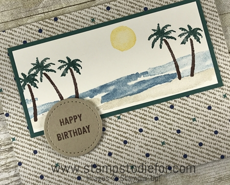 SS028 hand stamped birthday card for men using the Waterfront stamp set by Stampin Up (masculine card) 1