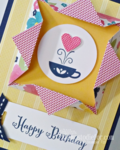 Shadow box frame close up Kind and cozy stamp set