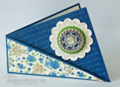 Twisted Card, fun fold for stamping handmade card