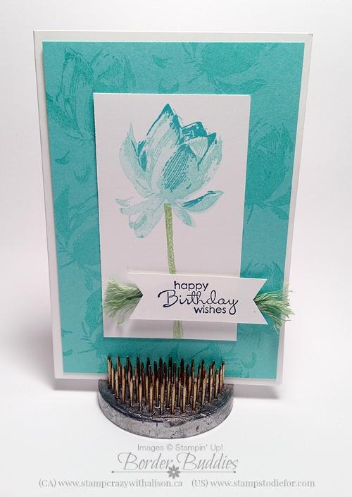 2-21 lotus blossom stampin up stamp set
