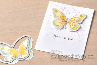 Watercolor Wings Stamp Set Card
