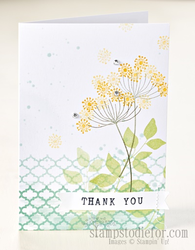 Summer silhouettes thank you card www.stampstodiefor.com