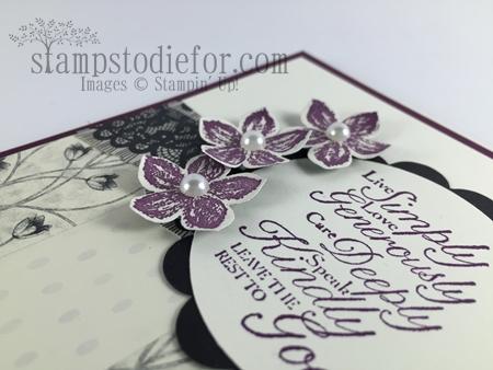 Timeless Elegance Designer Card cute flowers #stampinup www.stampstodiefor.com