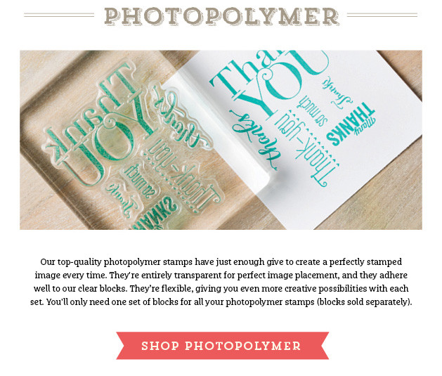 Shop photopolymer stamps