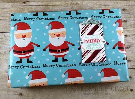 Home for Christmas Paper Christmas Tags www.stampstodiefor.com #stampinup #Santa #christmastags