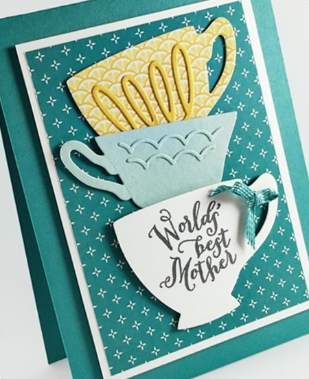 A Nice Cuppa stamp set and Cups & Kettle Framelits 2016 Occasions Catalog #stampinup www.stampstodiefor.com a
