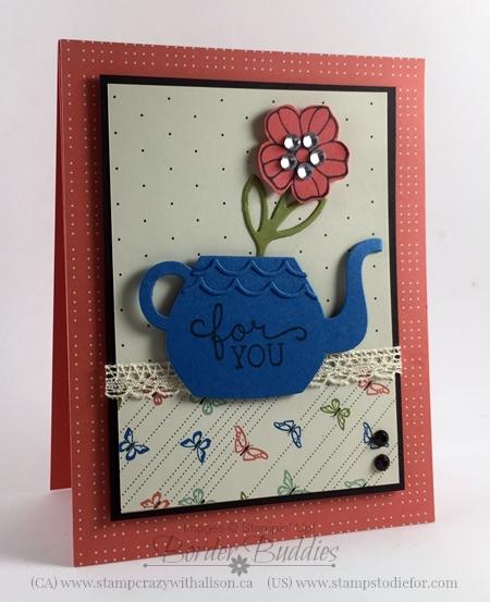 Cups and Kettle & Rose Garden Framelits Dies #stampinup www.stampstodiefor.com