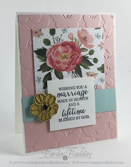 Rose Wonder Stamp Set, Birthday Bouquet Designe Paper, Fluttering Embossing Folder #stampinup www.stampstodiefor.com