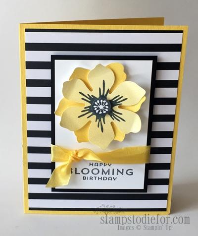 Fun Flower Punch Birthday Card Sample