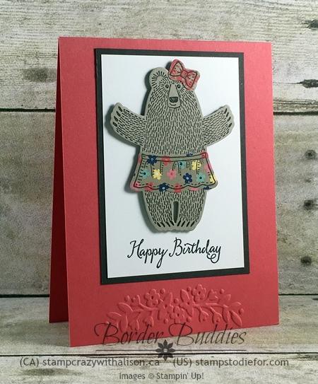 Bear Hugs Stamp Set & Framelits, Affectionately Yours Designer Paper, Floral Affection Embossing Folder #stampinup www.stampstodiefor.com