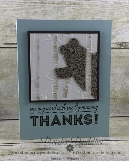 Bear Hugs Stamp Set & One Big Meaning Stamp Set #stampinup www.stampstodiefor.com 2