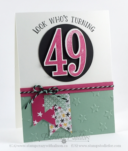 Number of Years Birthday Card Occasions Catalog #stampinup www.stampstodiefor.com 2