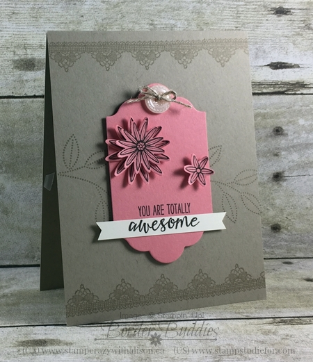 Grateful Bunch Stamp Set, Flirty Flamingo Cardstock, All Occasion Card, #stampinup www.stampstodiefor.com