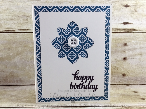 Flower Medallion Punch Birthday Card #stampinup www.stampstodiefor.com