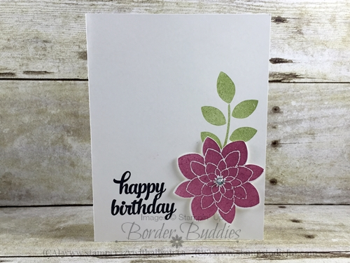 Flower Medallion Punch Crazy About you Stamp Set Birthday Card #stampinup www.stampstodiefor.com
