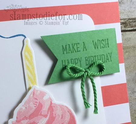 Color Your World International Blog Hop Sweet Cupcakes Stamp Set Birthday Card #stampinup www.stampstodiefor.com 2
