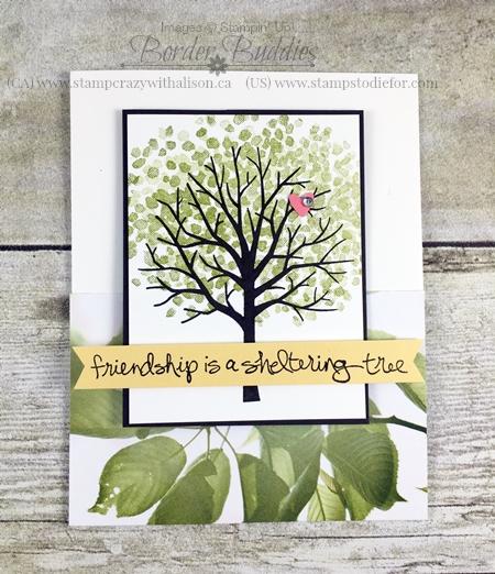 Sheltering Tree Stamp Set and Serene Scenery Designer Paper Hand Stamped Card #stampinup www.stampstodiefor.com.jpg 2