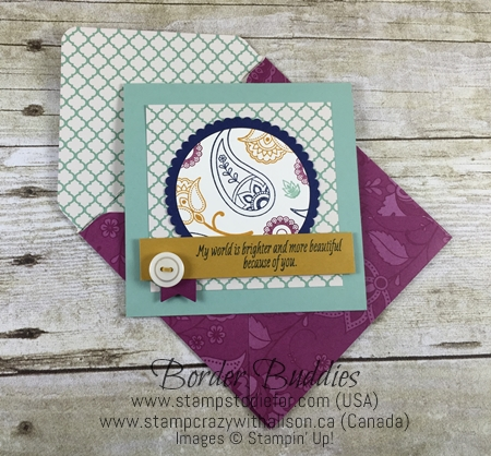 Paiselys & Posies Stamp Set and Envelope Punch Board by Stampin' Up!