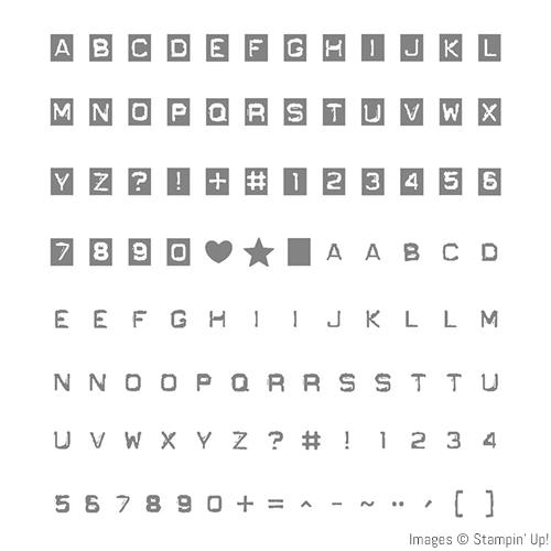 Labeler Alphabet stamp set by Stampin' Up!