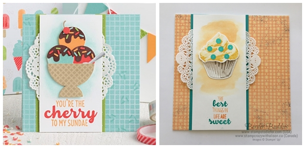 Sweet Cupcake stamp set and Cupcake Cutouts Framelits by Stampin' Up! www.stampstodiefor.com horz