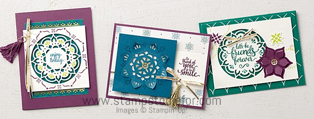 Eastern Beauty Stamp Set & Eastern Medallions Thinlits Dies by Stampin Up www.stampstodiefor.com