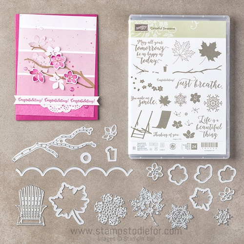 Colorful Seasons Bundle Stamp Set and Thinlits save 10% by Stampin' Up! www.stampstodiefor.com