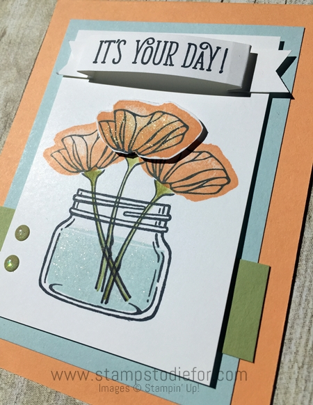 Oh So Eclectic  Jar of Love and Happy Birthday Gorgeous stamp set by Stampin' Up! www.stampstodie.com aaa