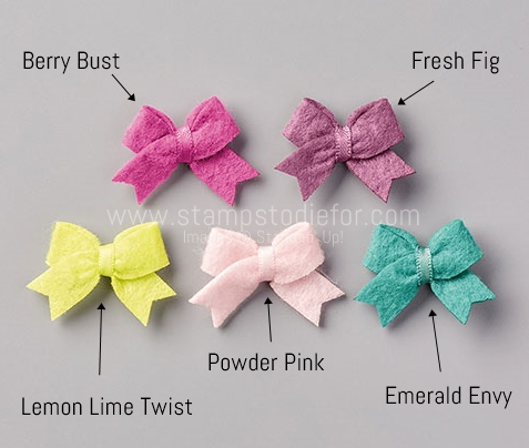 Stampin' Up! Itty Bitty Felt Bows