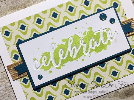 Happy Celebrations Stamp Set & Celebrations Duo Embossing Folders by Stampin' Up! www.stampstodiefor.com 3