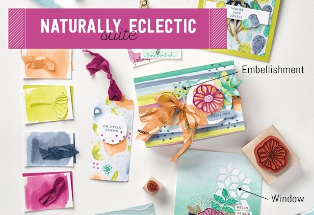 Naturally eclectic suite by stampin up notes