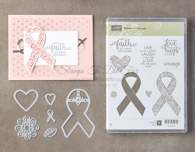 Ribbon of Courage Stamp Set by Stampin Up and Support Ribbon Framelits www.stampstodiefor.com products