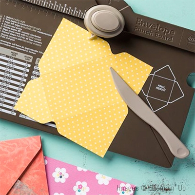 Envelope Punch Board to create great customized envelopes - Stampin' Up! www.stampstodiefor.com 1