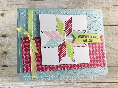 Sunday Sketches SS006 Quilted Christmas Stamp Set & Quilted Christmas Designer Series Paper by Stampin' Up! www.stampstodiefor.com